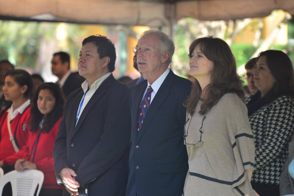 El alcalde capitalino Alvaro Arzú junto a su esposa Patricia de Arzú participan en la inauguración del Ciclo Escolar 2016. (Foto: Wilder López/Soy502)