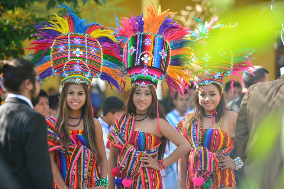Integrantes de la Banda Musical Latina de Coatepeque participaron en la inauguración del Ciclo Escolar 2016. (Foto: Wilder López/Soy502)