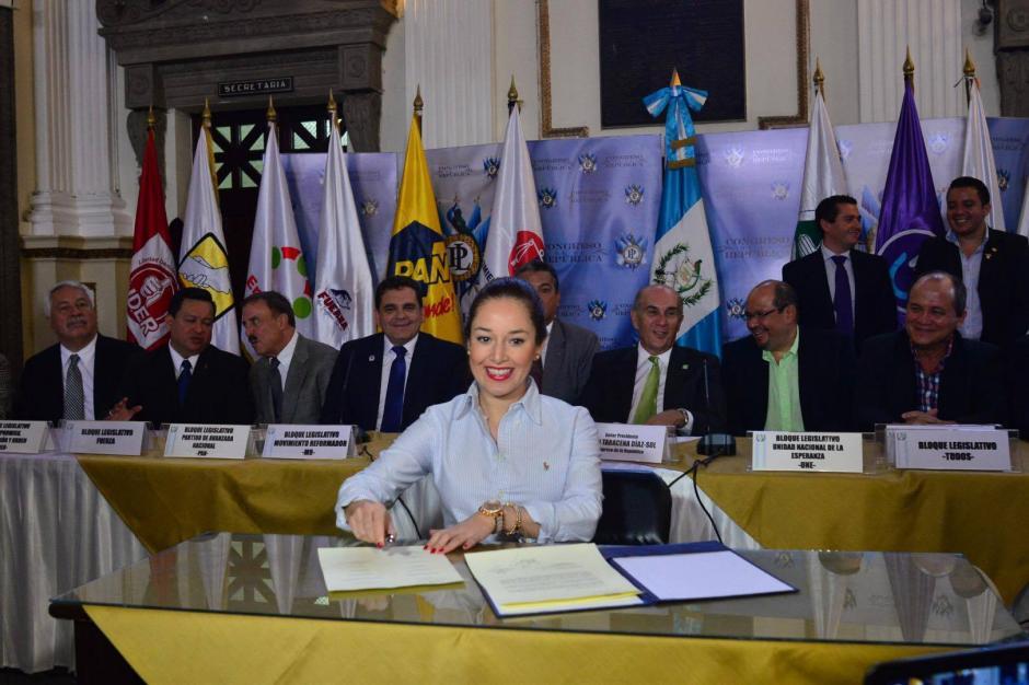 La diputada Alejandra Carillo, de la bancada del Partido Patriota, también afirmó que su bancada votará por aprobar la iniciativa de Ley. (Foto: Jesús Alfonso/ Soy502)