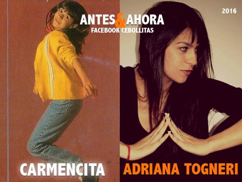 """""""Carmencita"""" siguió en el ámbito artístico. Es actriz y cada cierto tiempo, realiza obras de teatro donde oficia de productora y guionista. (Foto: Cebollitas/Facebook)"""