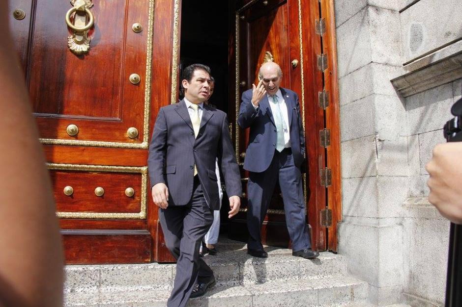El presidente del Congreso de la República, Mario Taracena visitó la CC para conocer el avance en las Reformas Electorales. (Foto: Jorge Sente/ Nuestro Diario)