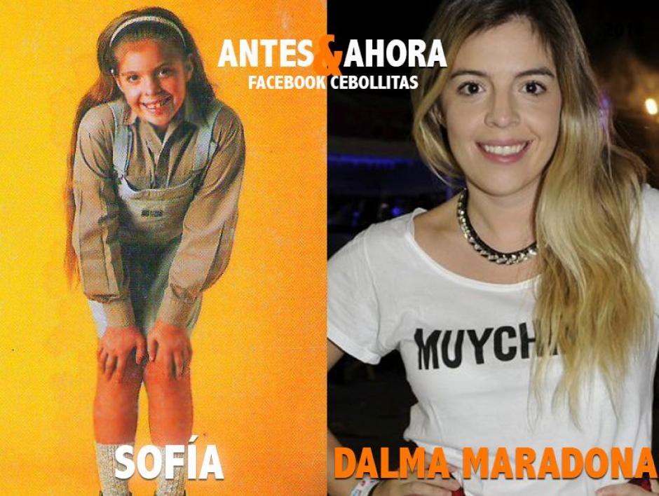 Dalma es hija del exastro argentino Diego Armando Maradona y actriz de profesión. Sigue en la actuación teatral. (Foto: Cebollitas/Facebook)