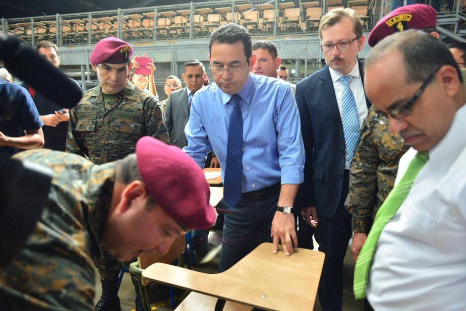 El presidente descartó que se obligue a los soldados. (Foto: Jesús Alfonso/Soy502)
