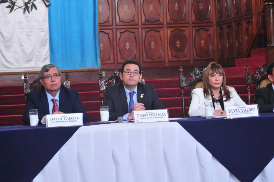 El Presidente de la República, Jimmy Morales, reitera que no entregará detalle de su patrimonio puesto que la ley no lo obliga. (Foto: Alejandro Balán/ Soy502)