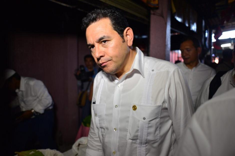 El presidente estuvo 30 minutos y partió rumbo a la capital. (Foto: Jesús Alfonso/Soy502)