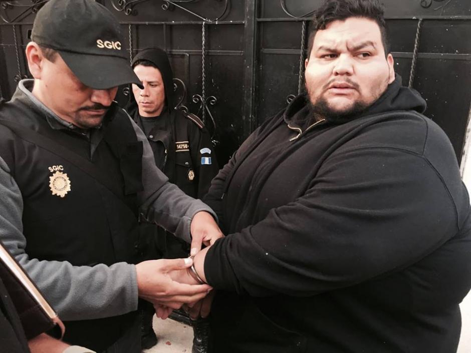 José Alejandro Elías Maldonado es capturado por extorsión. (Foto: PNC)