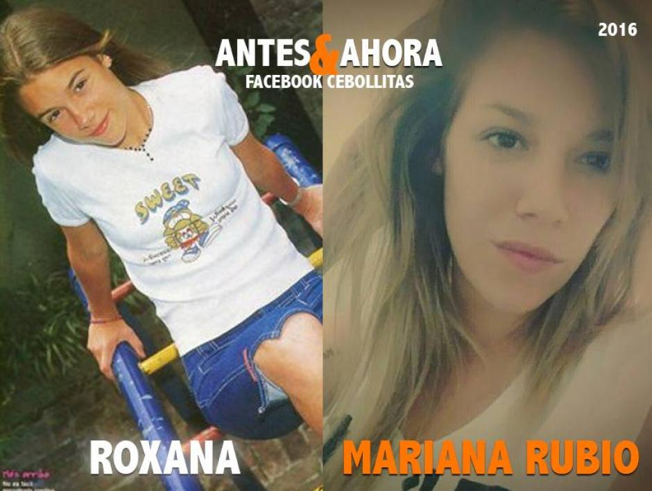 """Mariana Rubio intrepretaba a """"Roxana"""". Actualmente es vocalista de una banda de rock. (Foto: Cebollitas/Facebook)"""