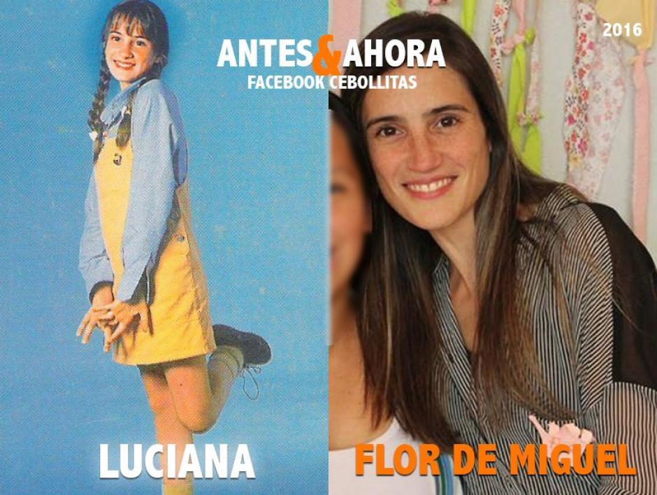 Flor de Miguel se alejó de la televisión para dedicarse a la vida familiar. Actualmente tiene un hijo. (Foto: Cebollitas/Facebook)