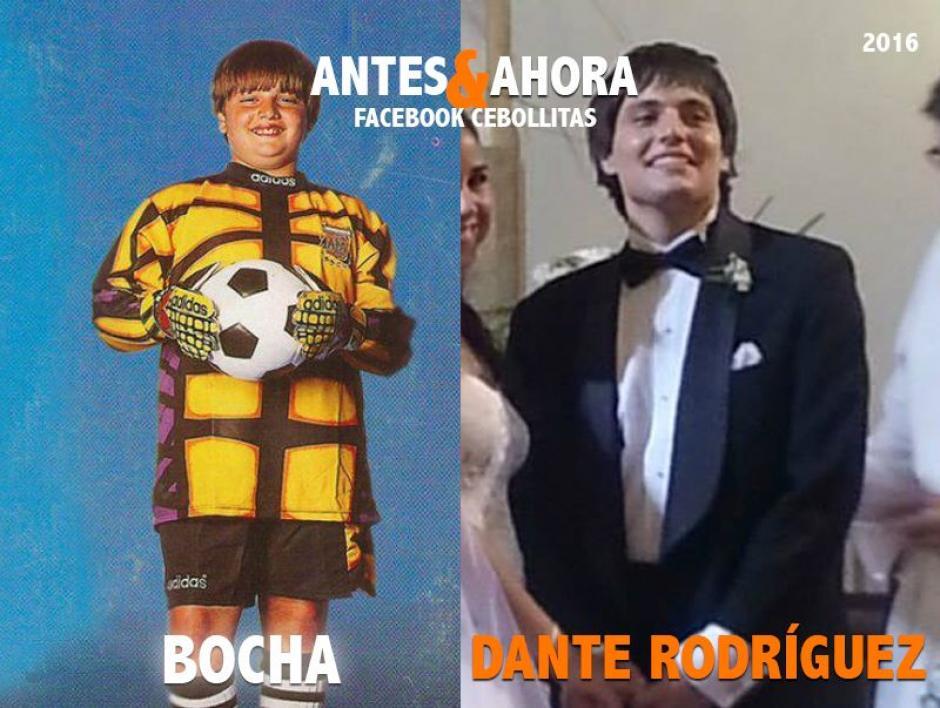 """""""Bocha"""" no se retiró completamente del fútbol y hoy juega en un club de barrio. Hace poco se casó y es padre de una niña. (Foto: Cebollitas/Facebook)"""