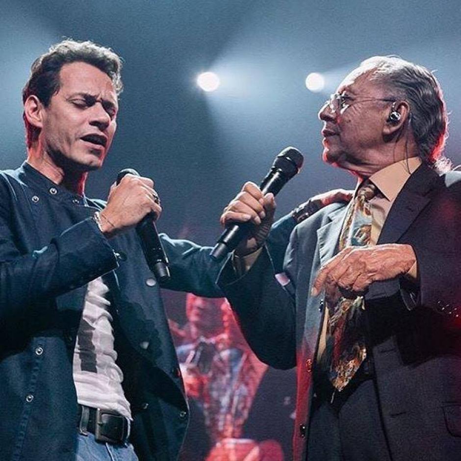Durante sus últimos conciertos, Marc Anthony ha invitado a su padre a acompañarlo en el escenario. (Foto Facebook/Don Felipe Muñiz)