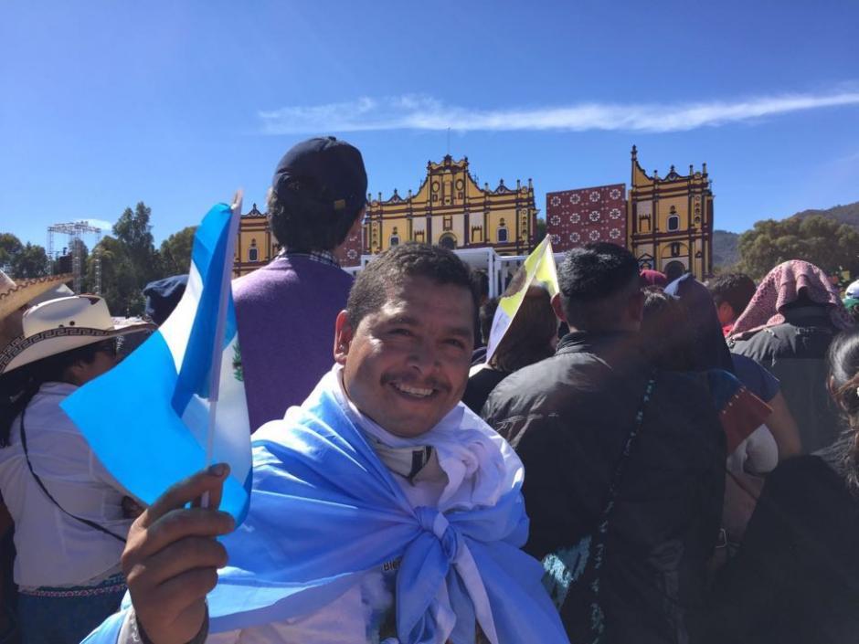 Cientos de Guatemaltecos visitaron Chiapas para ver de cerca al Papa Francisco. (Foto: Vivian Mutz/Nuestro Diario)