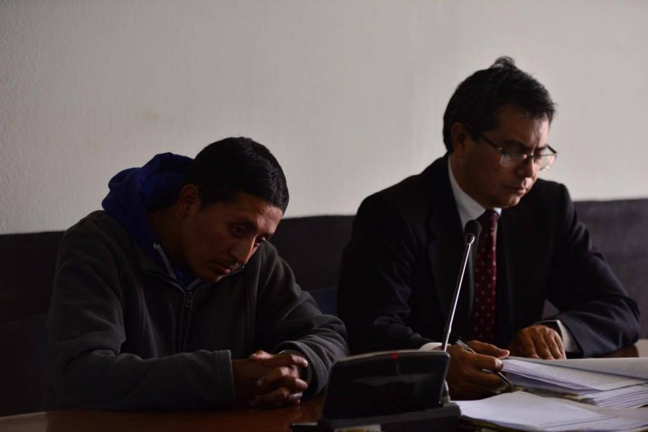 Guerrero se mostró acongojado tras conocer que deberá guardar 30 años de prisión. (Foto: Jesús Alfonso/Soy502)