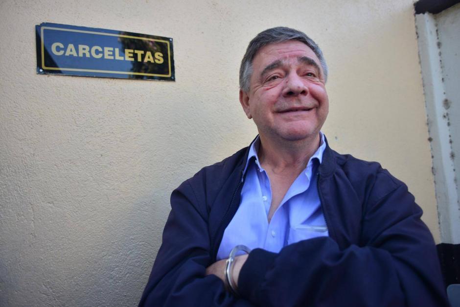 Hugo Roberto Roitman de 65 años de edad, fue capturadp en Santa Catarina Pinula, sindicado de asociación ilícita y cohecho pasivo. (Foto: Jesús Alfonso/ Soy502)