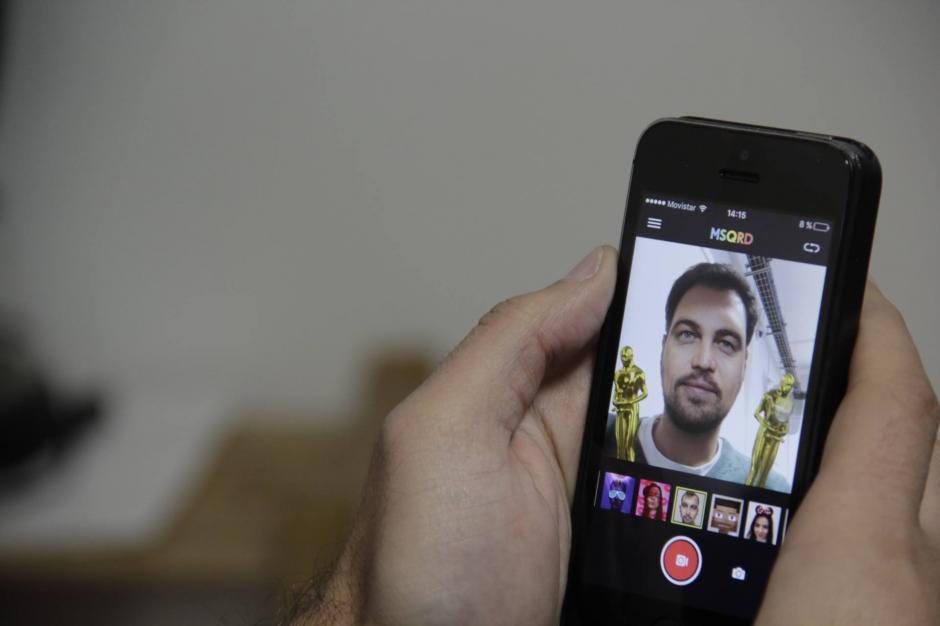 La aplicación que simula a Leonardo DiCaprio recogiendo su ansiado Oscar. (Foto: Fredy Hernández/Soy502)