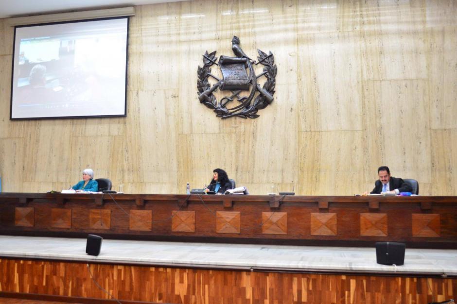 Testigos del acusado Esteelmer Reyes Girón declararon durante la jornada 16 del juicio Sepur Zarco. (Foto: Jesús Alfonso/ Soy502)