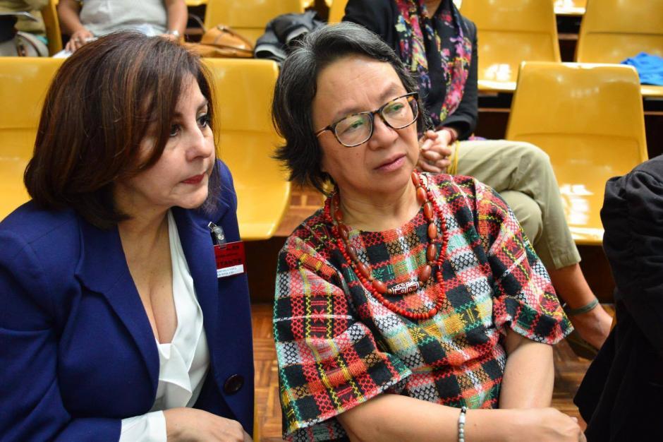 La relatora de los Pueblos Indígenas de la ONU Victoria Tauli-Corpuz participó en la jornada 16 del juicio Sepur Zarco. (Foto: Jesús Alfonso/ Soy502)