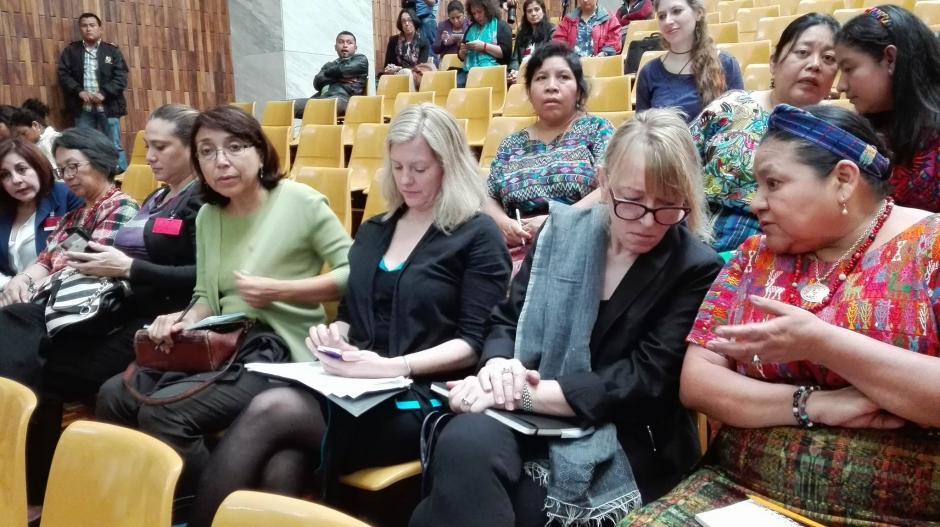 La premio Nóbel de la Paz, Rigoberta Menchú, participó en la jornada 16 del juicio Sepur Zarco. (Foto: Jesús Alfonso/ Soy502)