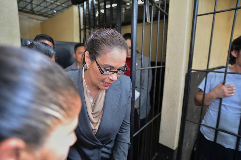 La exvicepresidenta Roxana Baldetti fue enviada a la carceleta en el tercer día de audiencia. (Foto Wilder López/Soy502)