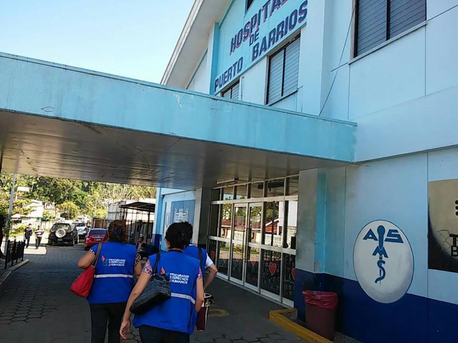 La PDH realizó una revisión en el Hospital de Puerto Barrios, Izabal. (Foto: PDH)