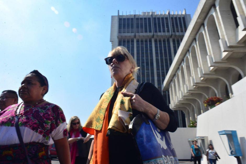 Luego de participar en la audiencia 17 del caso Sepur Zarco, las Premio Nóbel de la Paz brindaron una conferencia de prensa. (Foto: Jesús Alfonso/ Soy502)