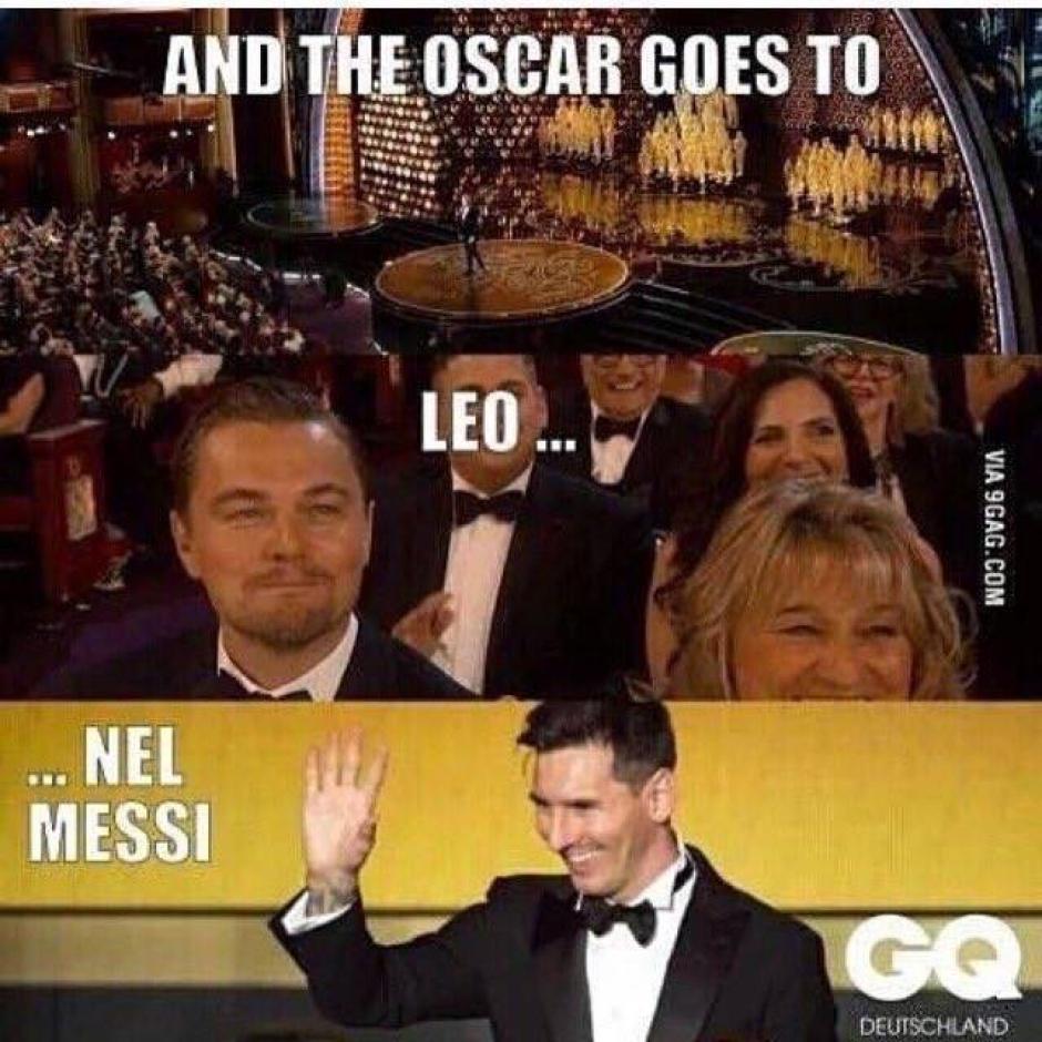 Messi estuvo en la gala, aunque sea en un meme.