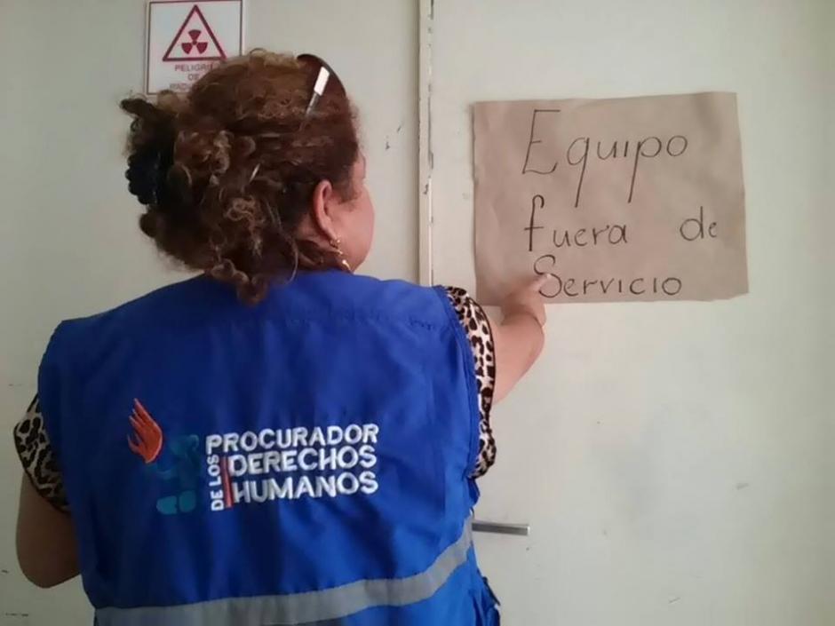 El Hospital de Puerto Barrios no realiza Rayos X porque la máquina no funciona desde hace seis meses. (Foto: PDH)