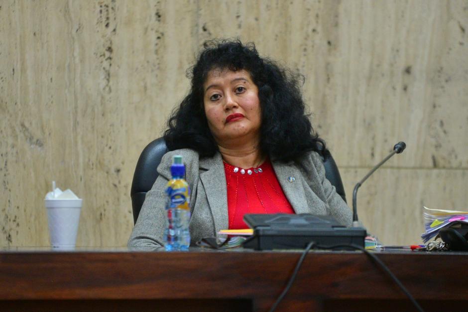 La jueza Jazmín Barrios, quien preside el Tribunal de Mayor Riesgo A, será quien dé a conocer la sentencia. (Foto: Wilder López/Soy502)