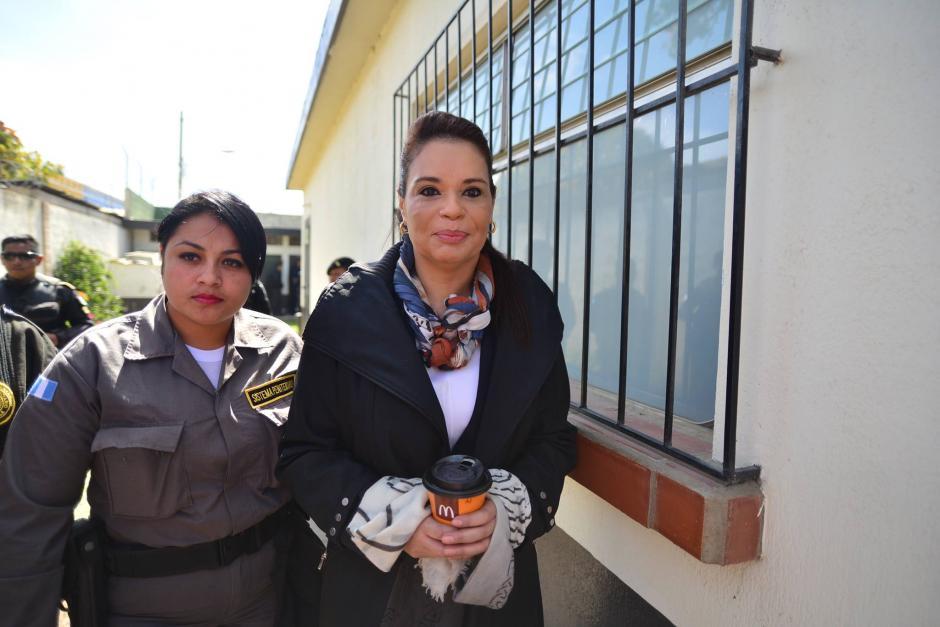 Roxana Baldetti, exvicepresidenta, también comparece ya que se vincula de ser una de las principales operadoras de la supuesta estafa.  (Foto: Wilder López/Soy502)