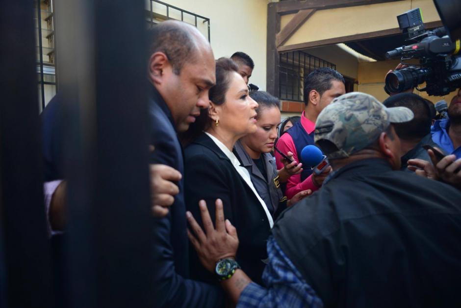 Baldetti declaró a la prensa que es inocente por el caso de fraude. (Foto Jesús Alfonso/Soy502)
