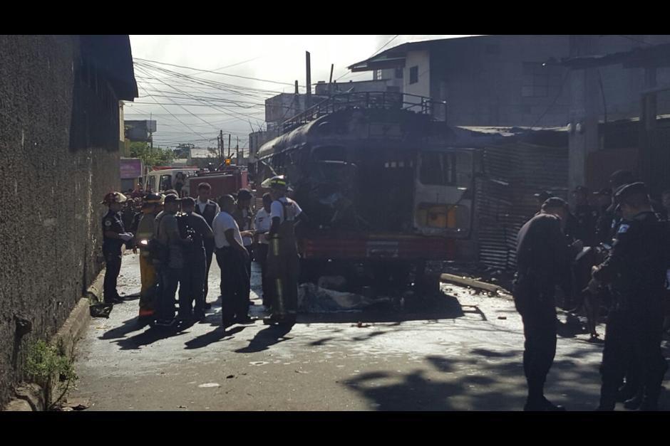En marzo de este año los pandilleros que hoy fueron capturados habrían activado una bomba en el interior de un bus. (Foto: Archivo/Soy502)