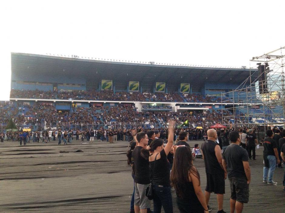 Desde Guatemala viajó un grupo de fanáticos de Iron Maiden.