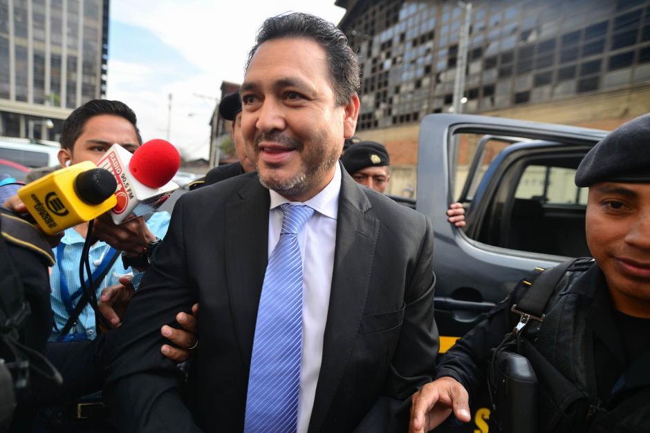 El exdiputado parecía estar tranquilo ante los señalamientos que pesan en su contra. (Foto: Wilder López/Soy502)