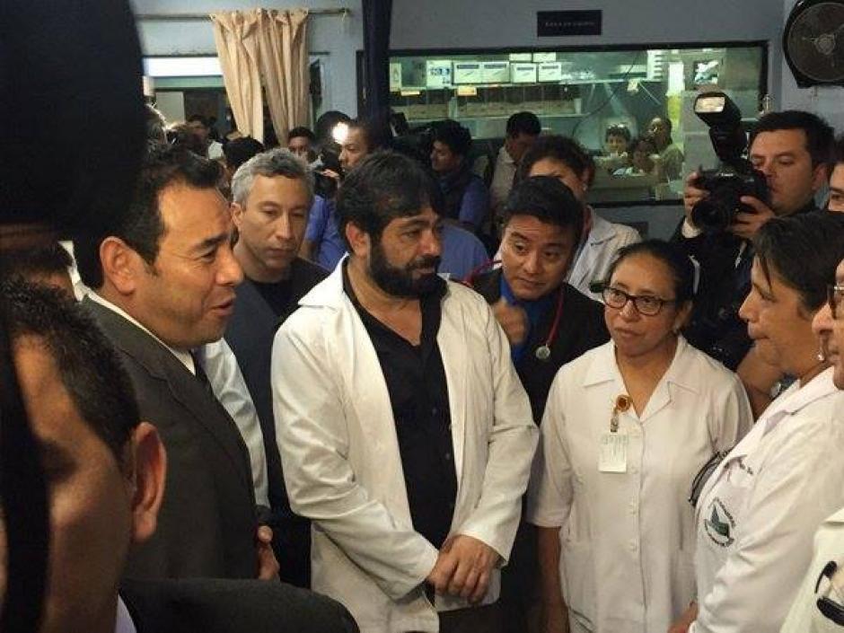 """Durante su visita comparó a las enfermeras con """"Harry Potter"""". (Foto: Jorge Sente/Nuestro Diario)"""