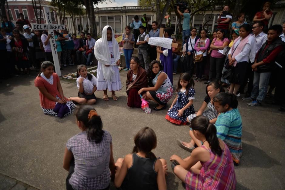 La actividad tuvo lugar en la Plaza de la Constitución. (Foto: Wilder López/Soy502)