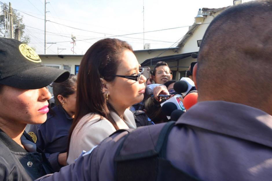 Roxana Baldetti, en el momento de su traslado. (Foto: Jesús Alfonso/Soy502)