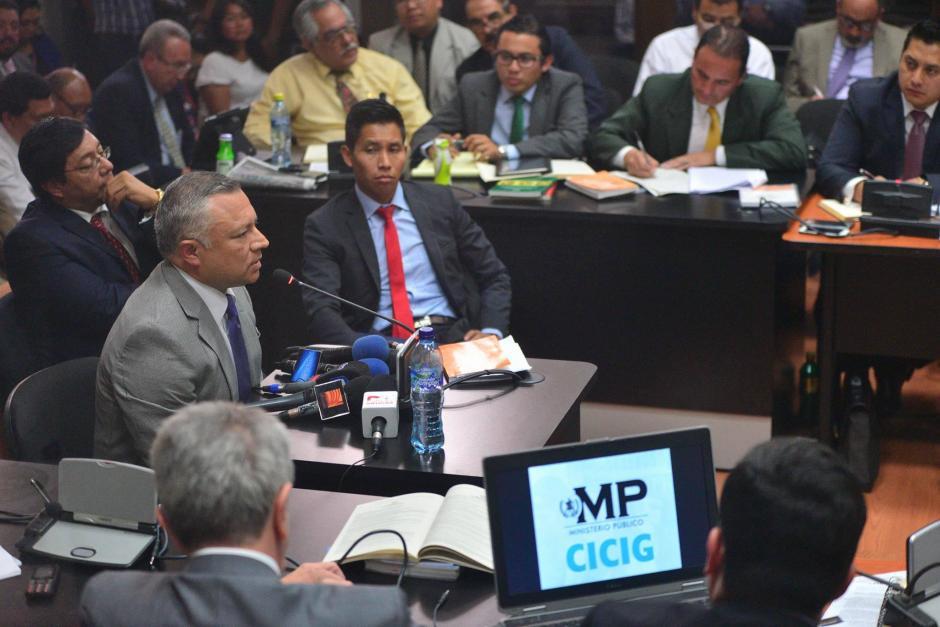 """En su declaración, """"Eco"""" confirma que Roxana Baldetti y Otto Pérez sabían sobre las actividades de defraudación aduanera. (Foto: Wilder López/Soy502)"""
