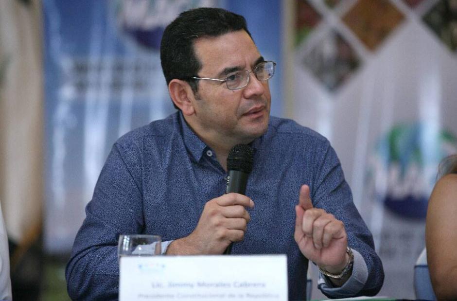 El presidente se encuentra en una gira por Suchitepéquez (Foto: Gobierno de Guatemala)