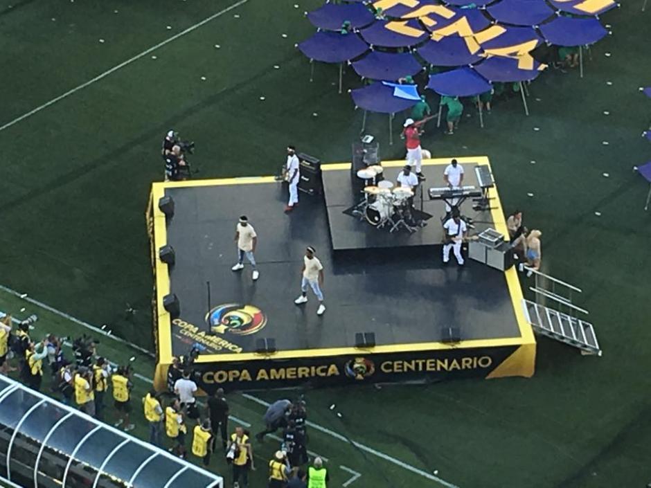 Así fue la parte musical en la inaguración de Copa América 2016. (Foto: Canarionetwork)