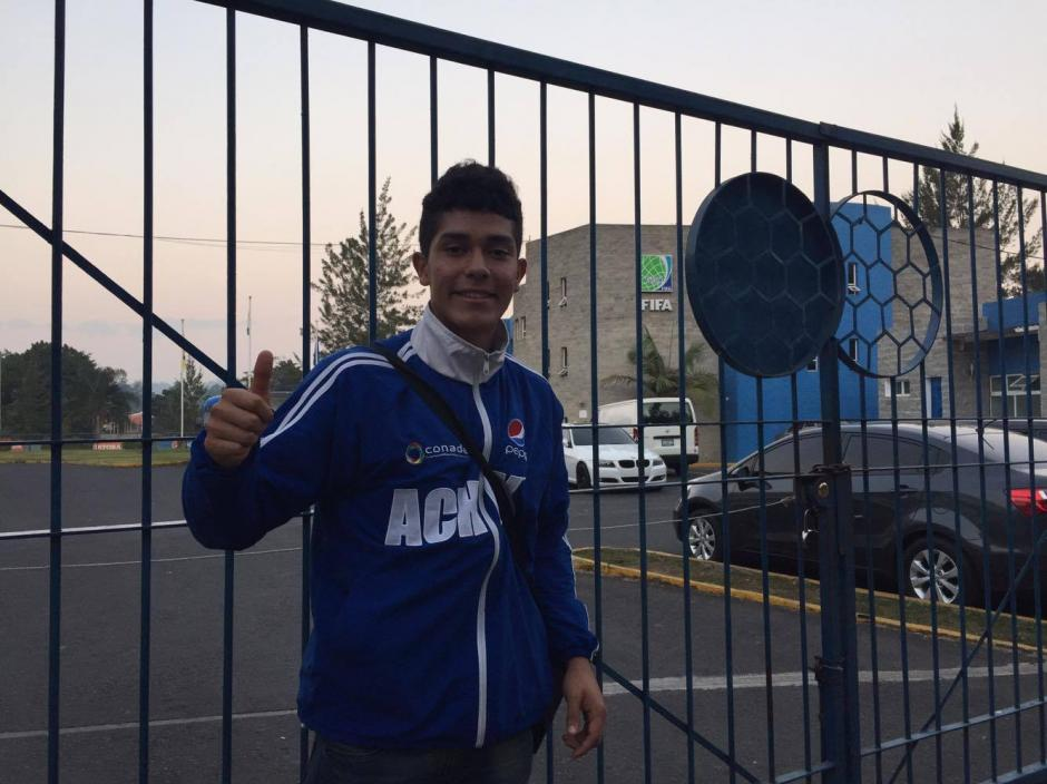 Gilder Lemus, de 17 años, entrenó once días con la Selección Nacional. (Foto: Pedro Pablo Mijangos/Soy502)