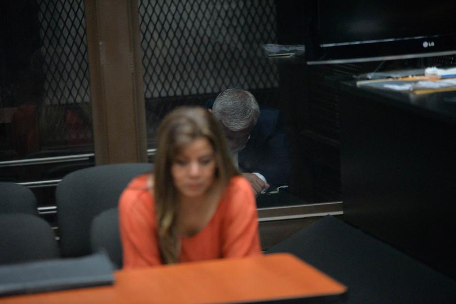 Se mostró cansado y alterado por la presencia de los medios de comunicación. (Foto. Wilder López/Soy502)