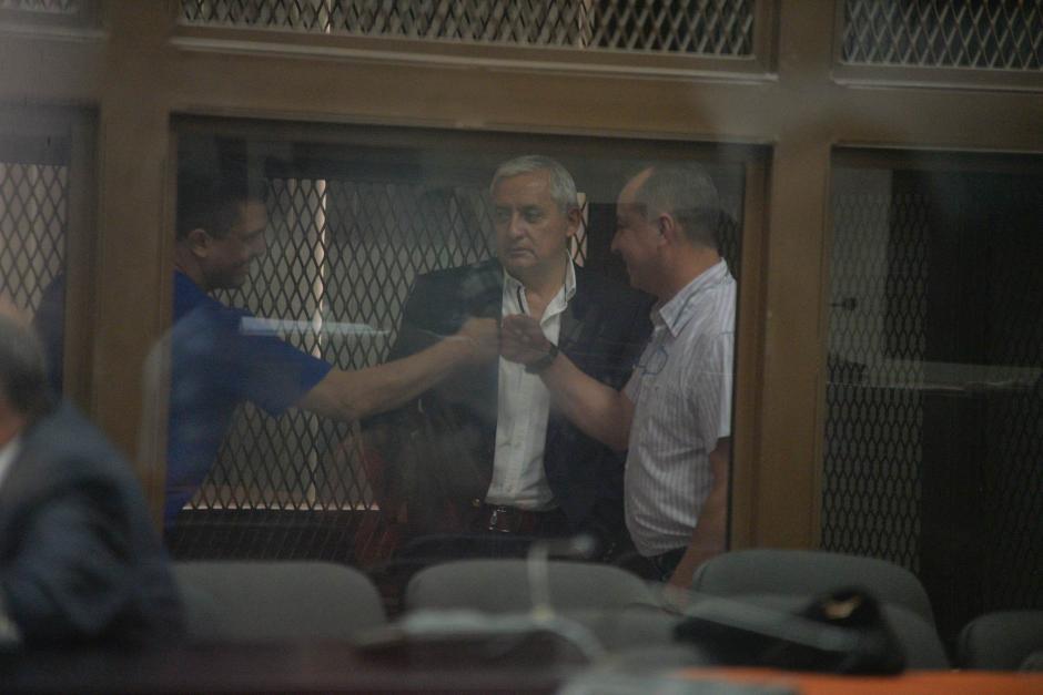 Se mostró un tanto indiferente ante el saludo de los otros acusados. (Foto. Wilder López/Soy502)