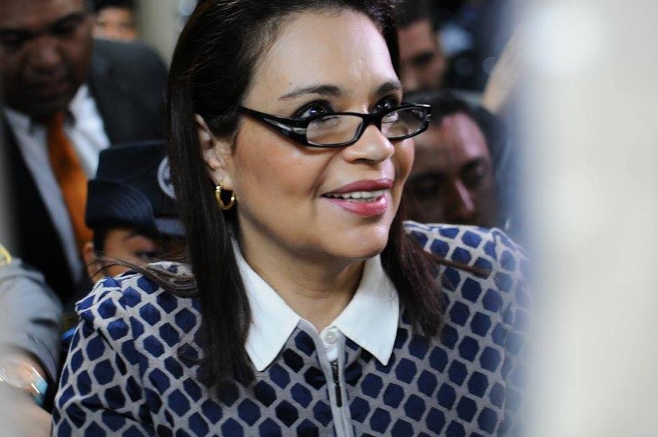Baldetti fue trasladada a Tribunales, tras quejarse de quebrantos de salud. (Foto: Wilder López/Soy502)