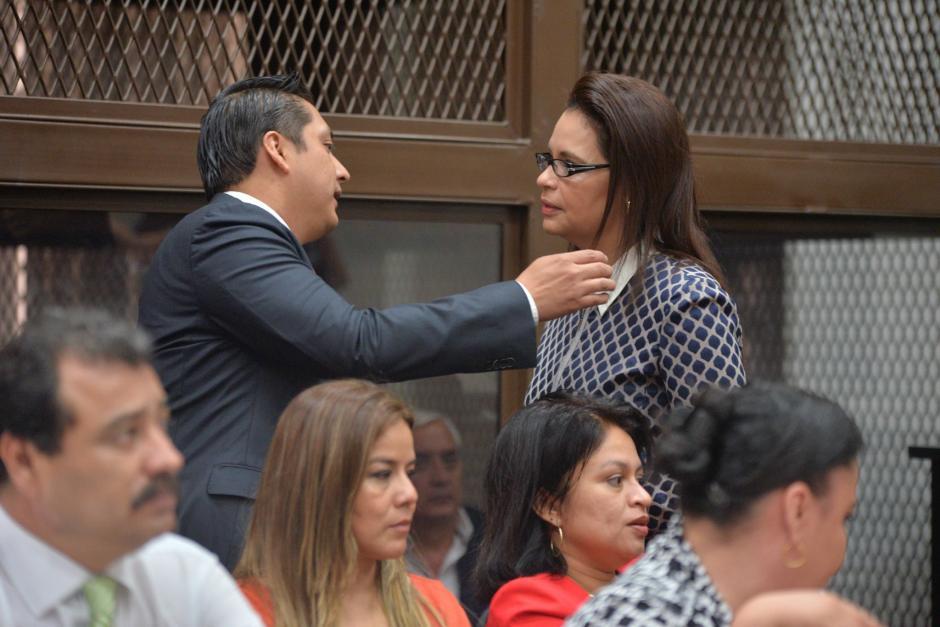 Roxana Baldetti y Otto Pérez finalmente estuvieron juntos en público luego de 10 meses separados. (Foto. Wilder López/Soy502)