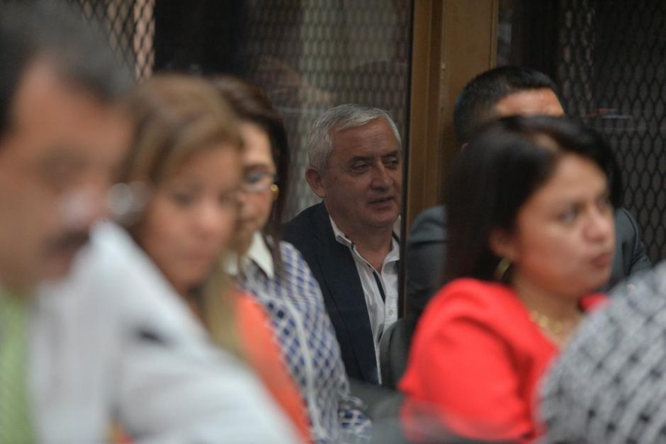 De a momentos reía al escuchar las palabras del juez. (Foto. Wilder López/Soy502)