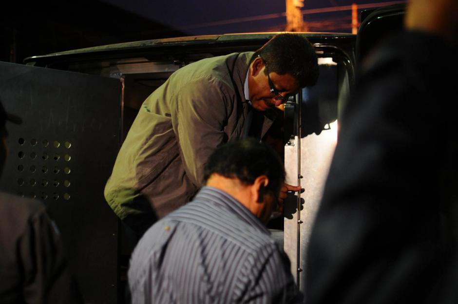 """Implicados en caso la Línea llegan a la Torre de Tribunales para una audiencia en el Juzgado de Mayor Riesgo """"B"""".(Foto: Alejandro Balán/ Soy502)"""
