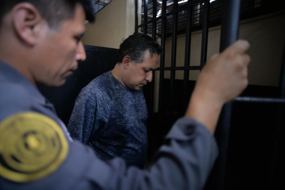 El docente Gustavo Ascencio fue capturado por la muerte de un estudiante del Liceo Javier. (Foto: Wilder López/ Soy502)