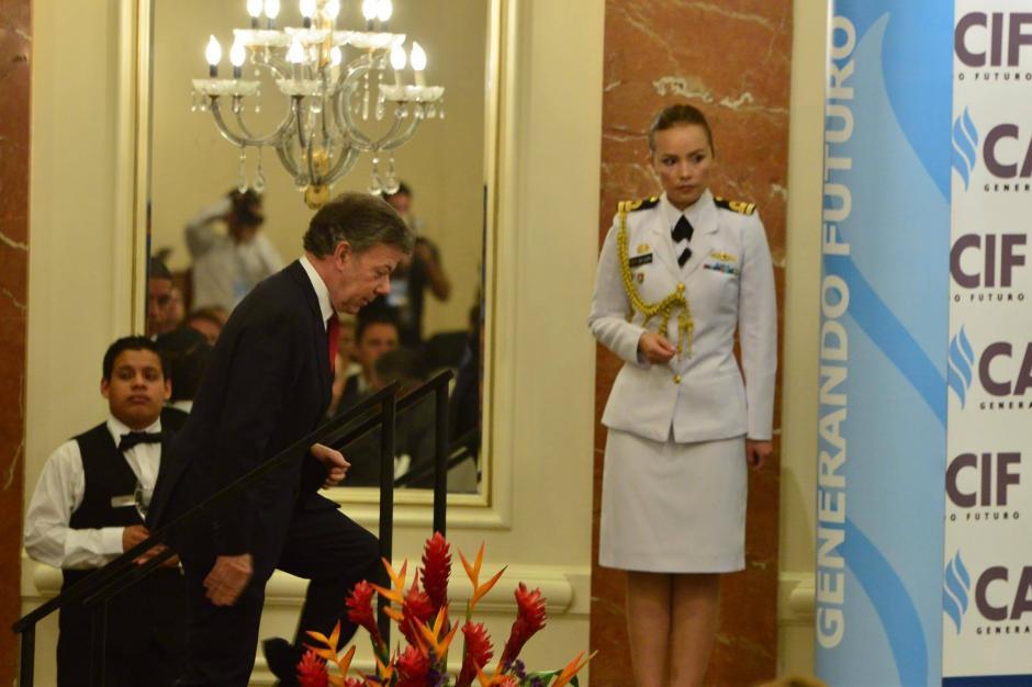 El presidente de Colombia, Juan Manuel Santos se encuentra de visita en Guatemala. (Foto: Jesús Alfonso/Soy502)