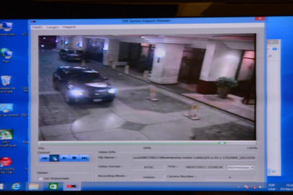 Los videos de seguridad del hotel también muestran a uno de los vehículos de los sindicados saliendo minutos después de las víctimas. (Foto: Jesús Alfonso/Soy502)