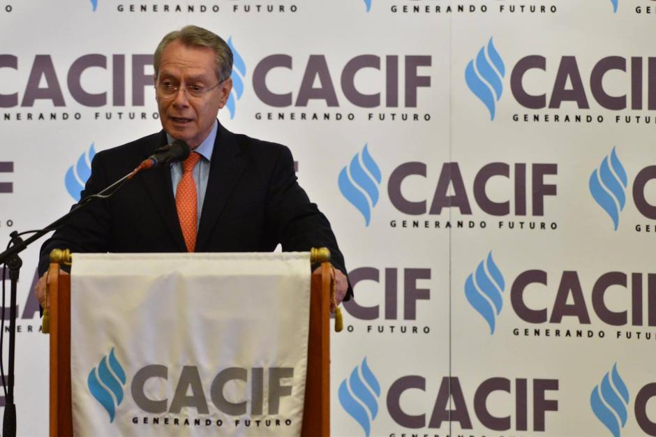 El presidente del Cacif, Jorge Briz fue uno de los participantes durante una reunión con el presidente Santos. (Foto: Jesús Alfonso/Soy502)