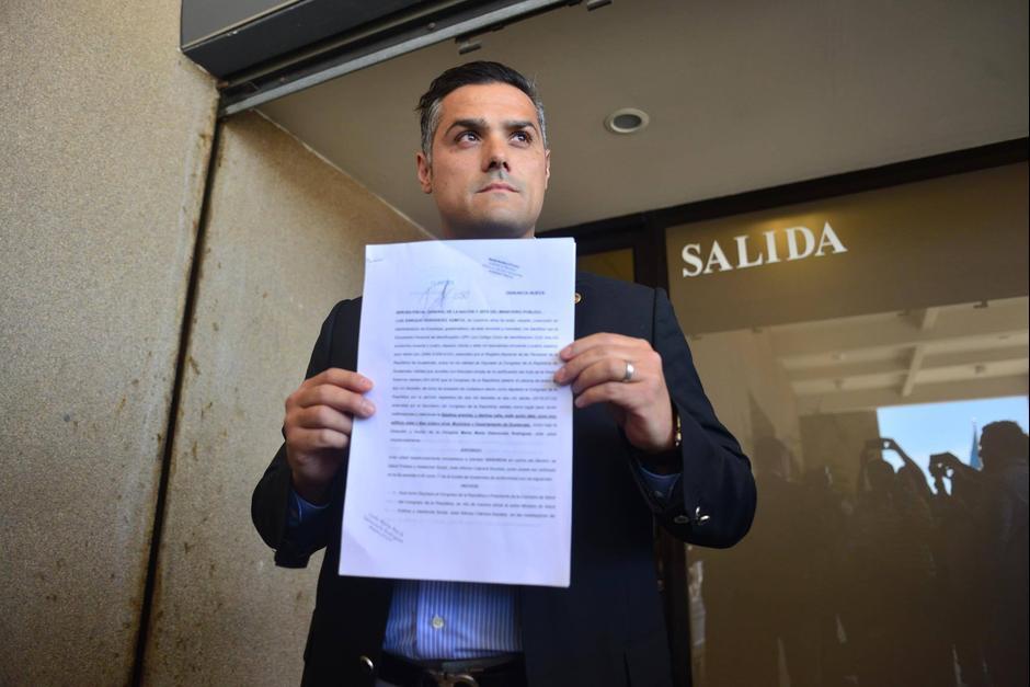Además criticó que, según él, el diputado Hernández Azmitia en alguna citación tuvo un trato peyorativo hacia el Ministro.  (Foto: Archivo/Soy502)